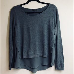 The Limited gray layered Sweater Blouse